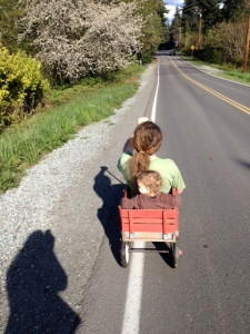 Wagon Ride with Dad