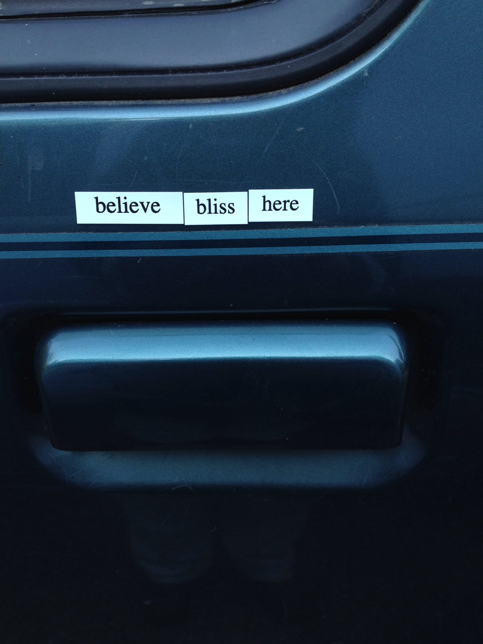 uplifting magnetic poetry for your car door by Aimee Cartier