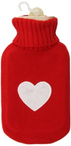 hot water bottle heart cover
