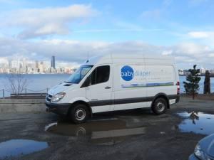 baby diaper service van