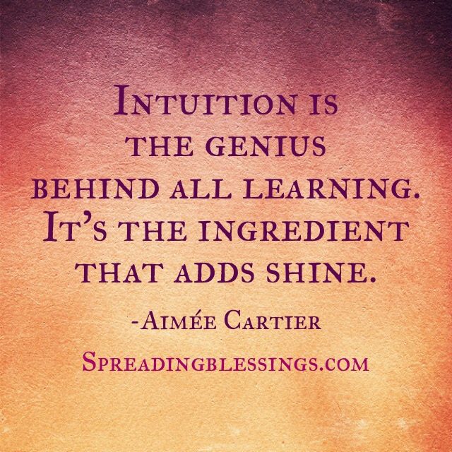 Intuition genius. Aimee Cartier. Spreadingblessings.com